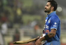 Virat Kohli fined for dissent at the umpire's decision of LBW