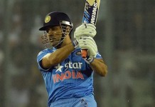 MS Dhoni 200th International Six as Captain