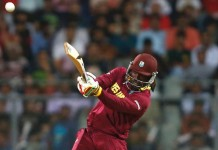 Raining Sixes in Mumbai By Gayle, yesterday against England