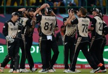 New Zealnders on fire beat Australia by 8 runs