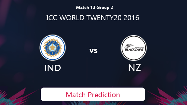 India vs New Zealand Match Prediction #WT20 2016
