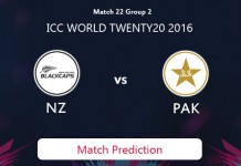 NEW ZEALAND V PAKISTAN Match Prediction
