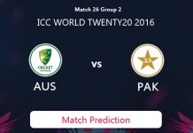 PAKISTAN V AUSTRALIA Match Prediction