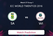SOUTH AFRICA V WEST INDIES Match Prediction