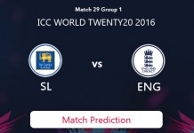 SRI LANKA V ENGLAND Match Prediction