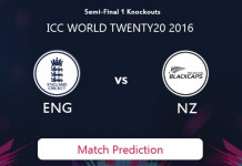 ENGLAND V NEW ZEALAND Match Prediction