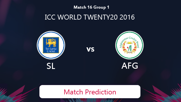 SRI LANKA V AFGHANISTAN Match Prediction #WT20 2016