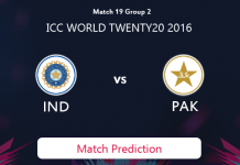INDIA V PAKISTAN Match Prediction #WT20 2016