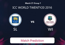 SRI LANKA V WEST INDIES Match Prediction
