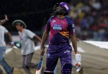 KKR beat RPS by 8 wickets (DL Method)