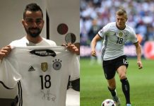 Virat Kohli thanks Toni Kroos for his gift