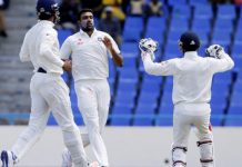 India vs West Indies 1st test Day-4, India – 566/8 dec, West Indies – 243 & 231