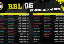 BBL 2016-17 Schedule in Indian time (IST)