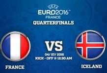 4th Quarter Final : France vs Iceland match Prediction