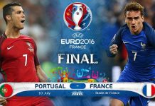 Euro 2016 Final : Protugal vs France match Prediction