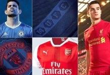 New kits of Premier League clubs for the 2016/17 season