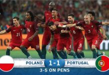 Portuguese are in semis fourth time in five tournaments