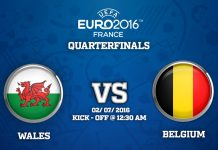 2nd Quarter Final : Wales vs Belgium match Prediction