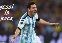 Great ! Messi is back to international football