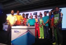 MS Dhoni unveils Tamil Nadu Premier League Trophy