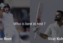 Joe Root vs Virat Kohli, who is the best in test ?
